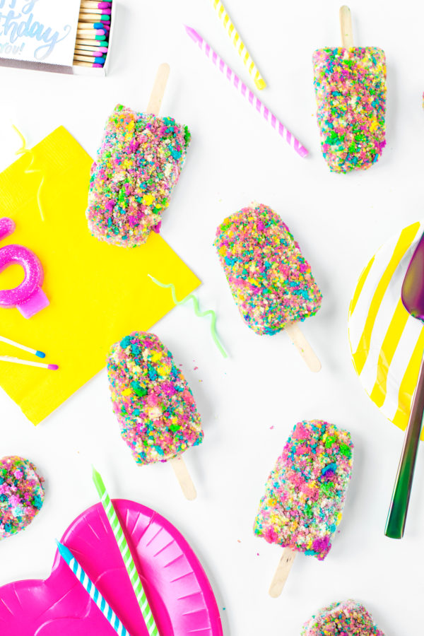 Birthday Cake Ice Cream Bars   studiodiy.com