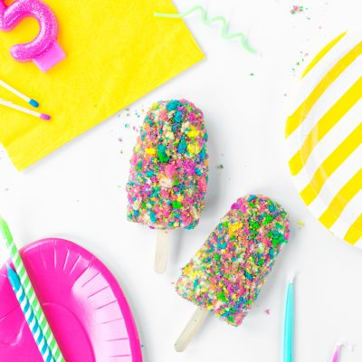 Birthday Cake Ice Cream Bars
