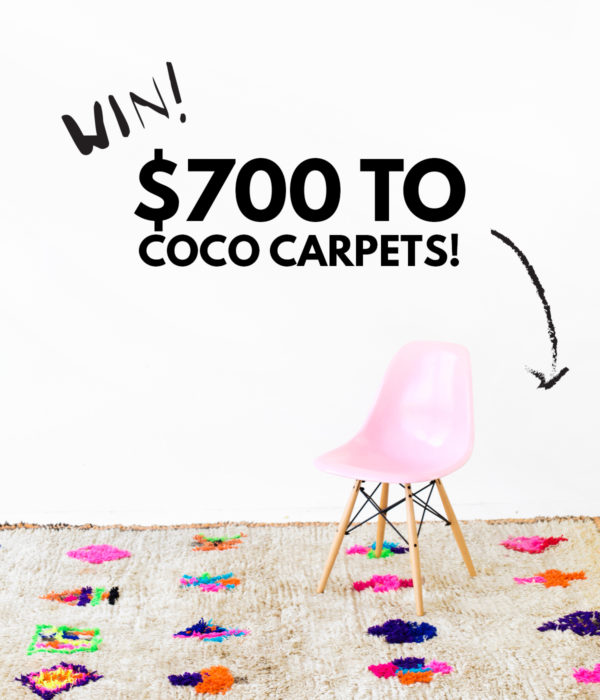 Win $700 to Coco Carpets! | studiodiy.com