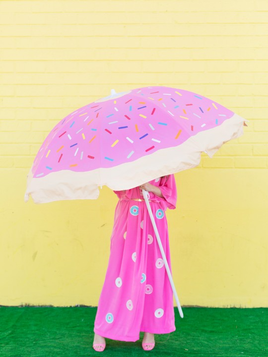 DIY Donut Beach Umbrella