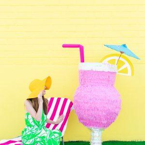 DIY Tropical Drink Piñata