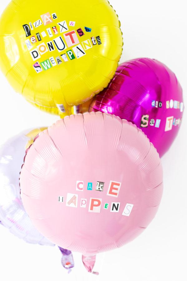 DIY Ransom Note Balloons | studiodiy.com