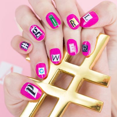 DIY Ransom Note Manicure