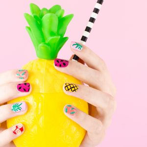 DIY Tropical Fruit Manicure