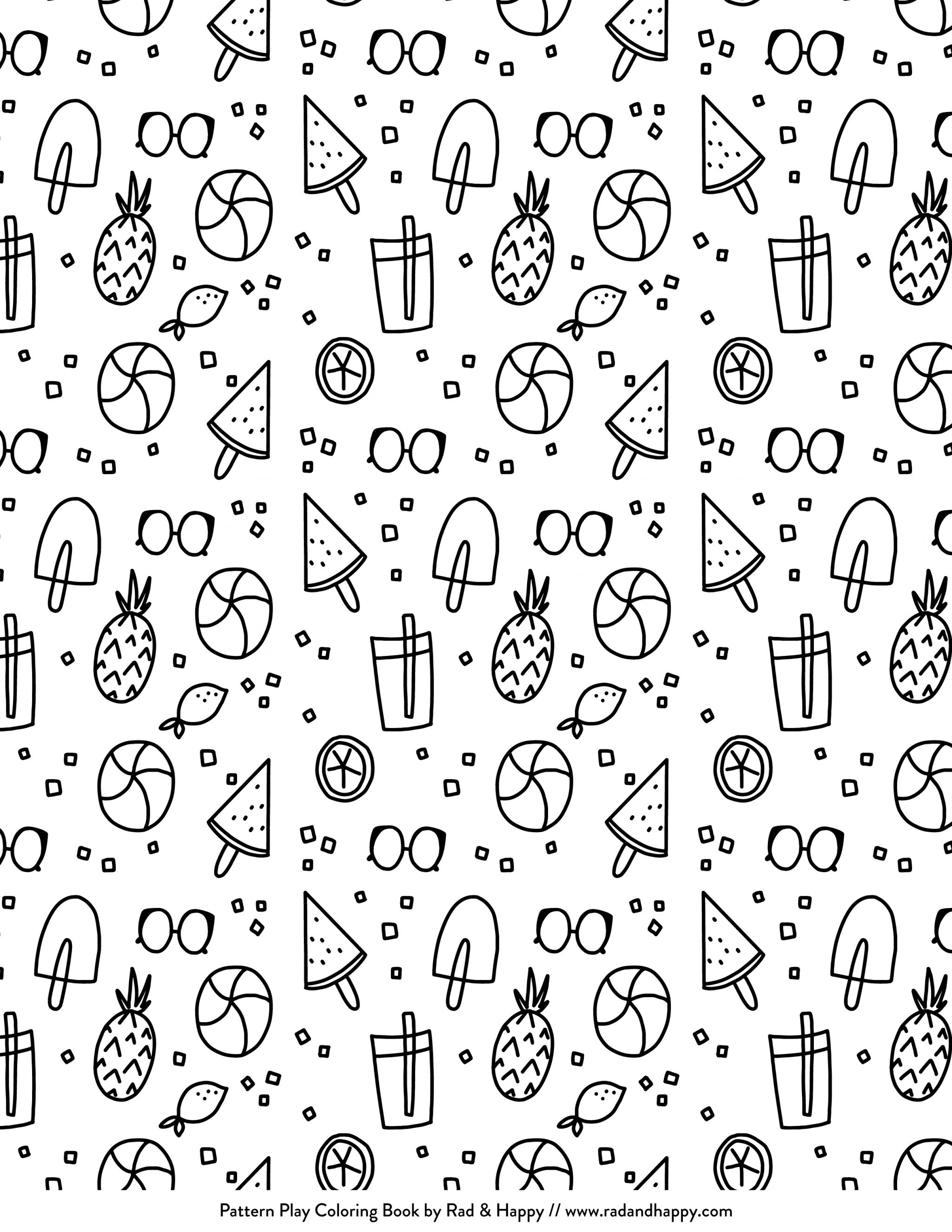 Sweet Treats Printable Coloring Pages | studiodiy.com - Studio DIY