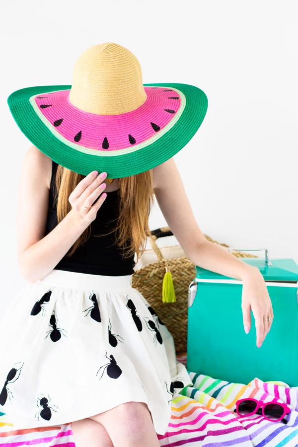DIY Watermelon Hat | studiodiy.com