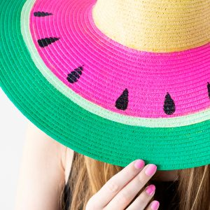 DIY Watermelon Floppy Hat