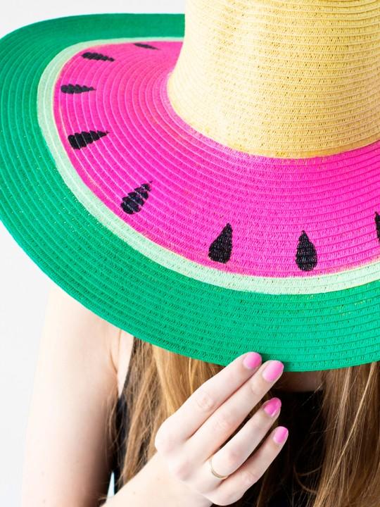 DIY Watermelon Floppy Hat