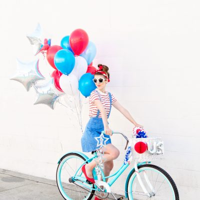 DIY Fourth of July Balloon Bikes