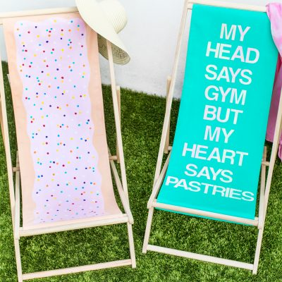 DIY Sling Beach Chair Makeovers