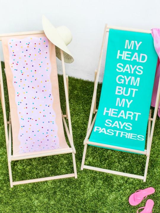 DIY Sling Beach Chair Makeovers