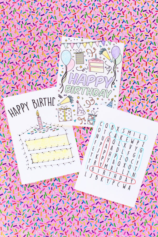 photo about Free Printable Birthday Cards for Boys named No cost Printable Birthday Playing cards for Children - Studio Do it yourself