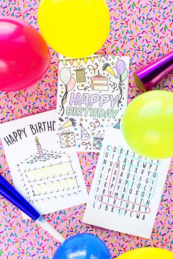 graphic about Free Printable Birthday Cards for Boys referred to as Cost-free Printable Birthday Playing cards for Youngsters - Studio Do-it-yourself