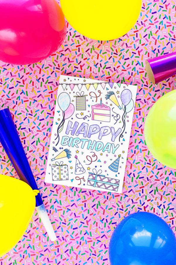 Free Printable Birthday Cards for Kids | studiodiy.com