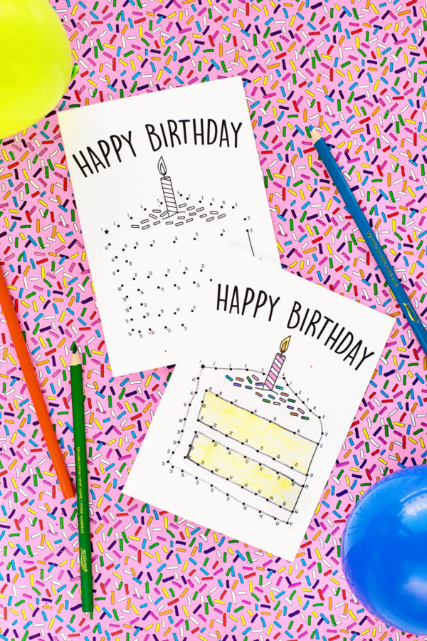 graphic about Printable Birthday Cards for Boys titled Totally free Printable Birthday Playing cards for Youngsters - Studio Do it yourself