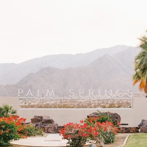 Colorful Palm Springs Wedding