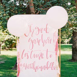 Giant Wedding Welcome Sign