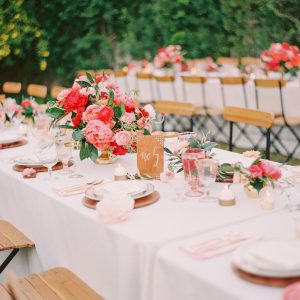 Pink Palm Springs Wedding