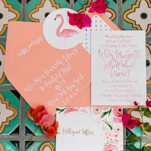 Colorful Palm Springs Wedding Invitations