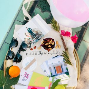 Colorful Palm Springs Wedding Welcome Bags