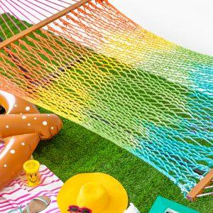 DIY Rainbow Tie Dye Hammock