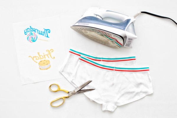 DIY Day of the Week Underwear