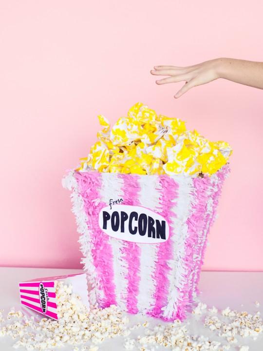 DIY Popcorn Piñata