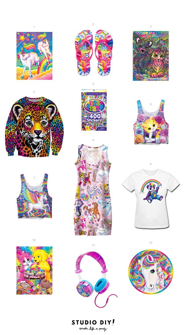 Lisa Frank Products You Can Buy Right Now! | studiodiy.com