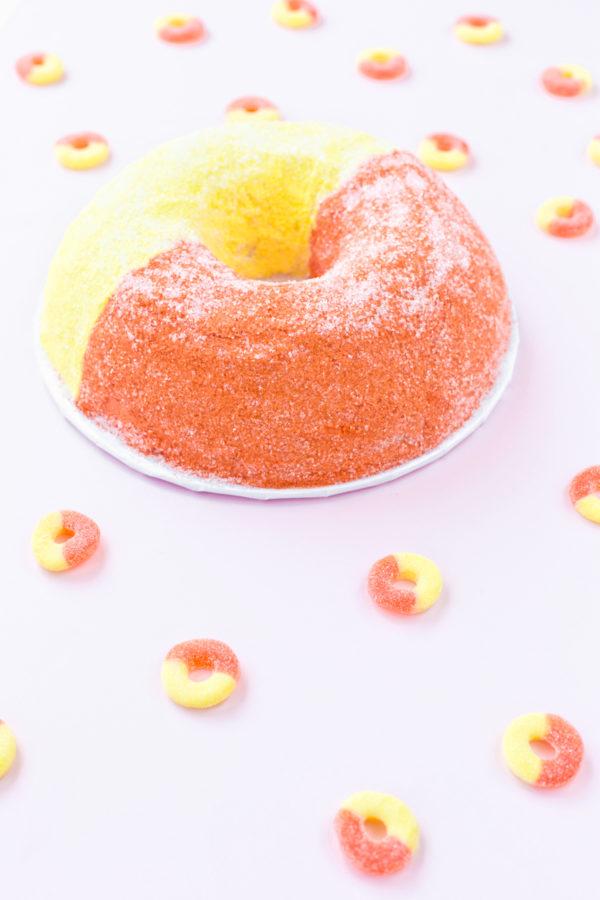 Giant Peach Ring Cake
