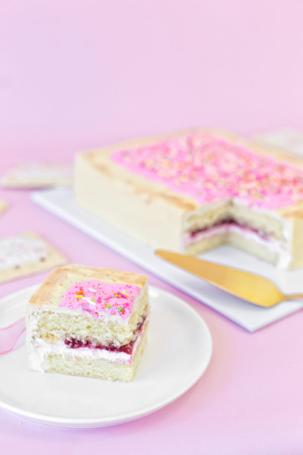 Giant Pop Tart Cake   studiodiy.com