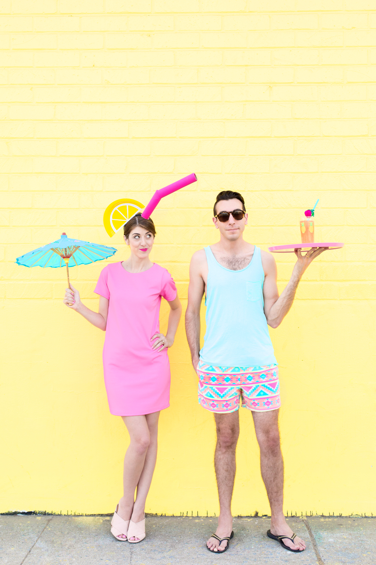 Diy Tropical Drink Pool Boy Couples Costume Studio