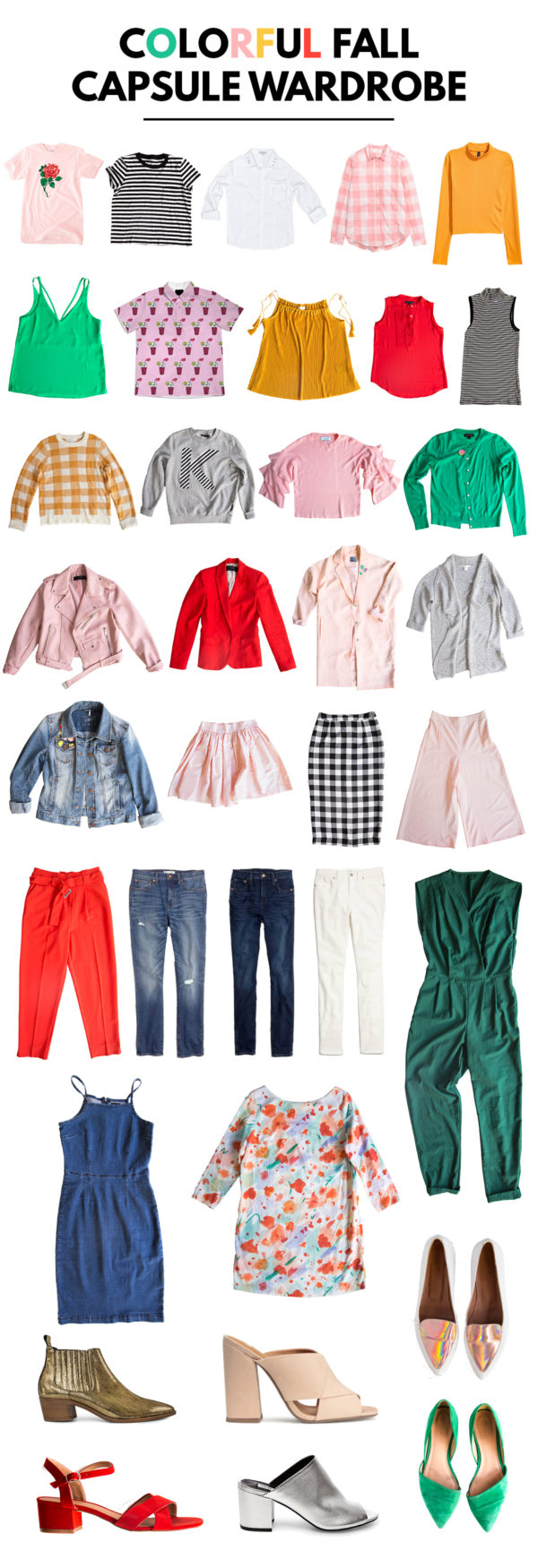 Colorful Fall Capsule Wardrobe