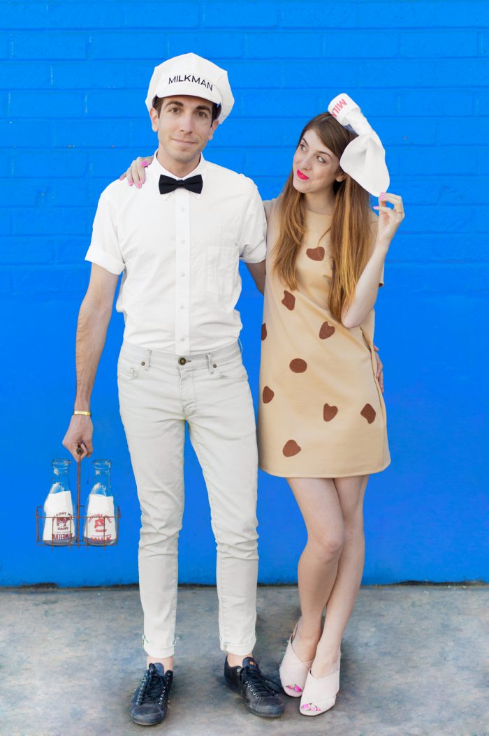 DIY Cookies + Milk Couples Costume