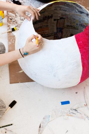 DIY Beach Ball Costume