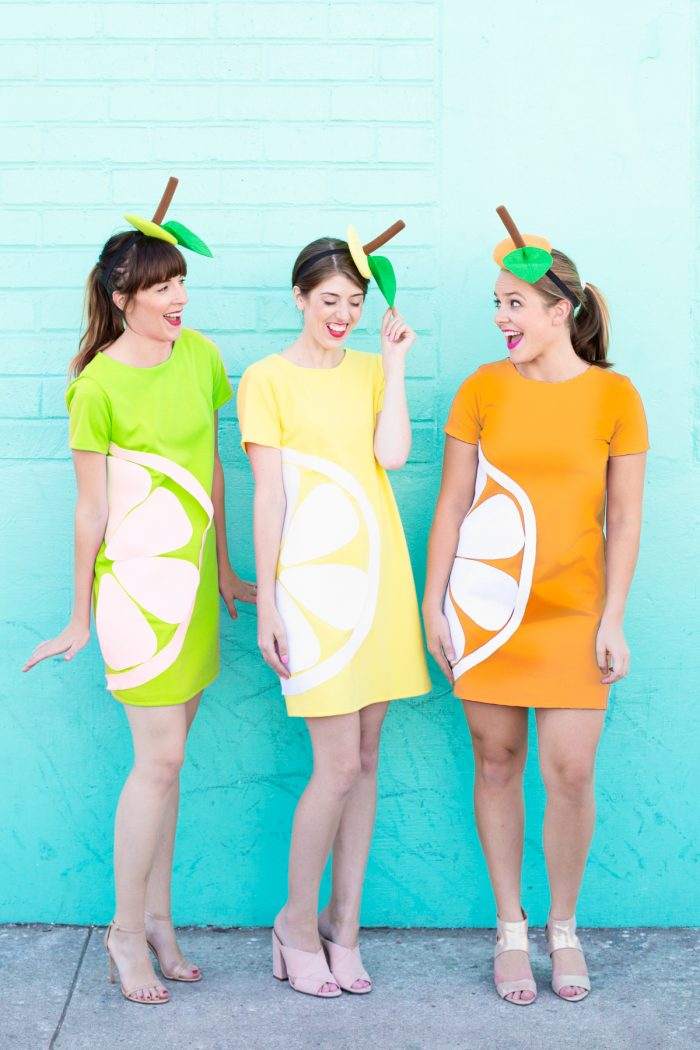 DIY Citrus Slice Costumes