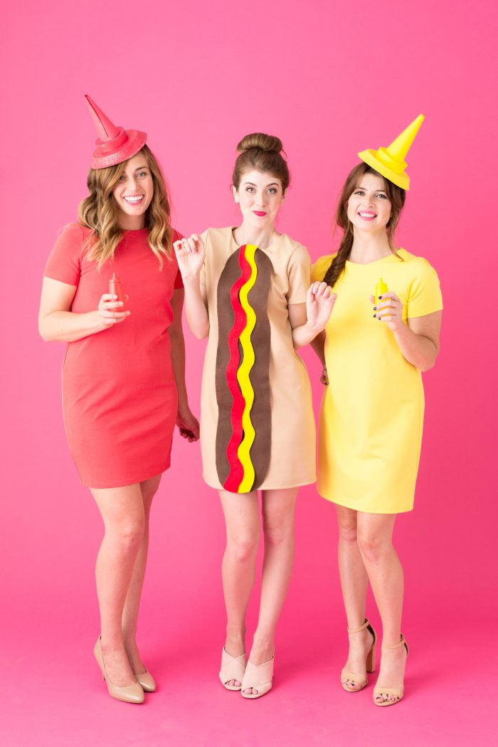 DIY Hot Dog Costume + Other Junk Food Halloween Costume Ideas!