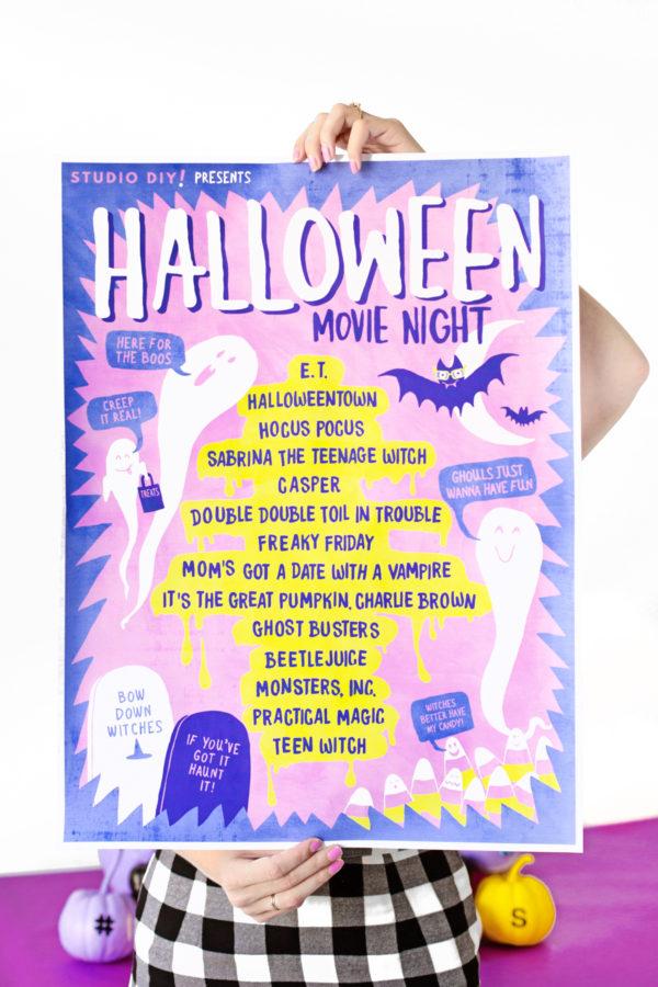Free Printable Halloween Movie Playlist