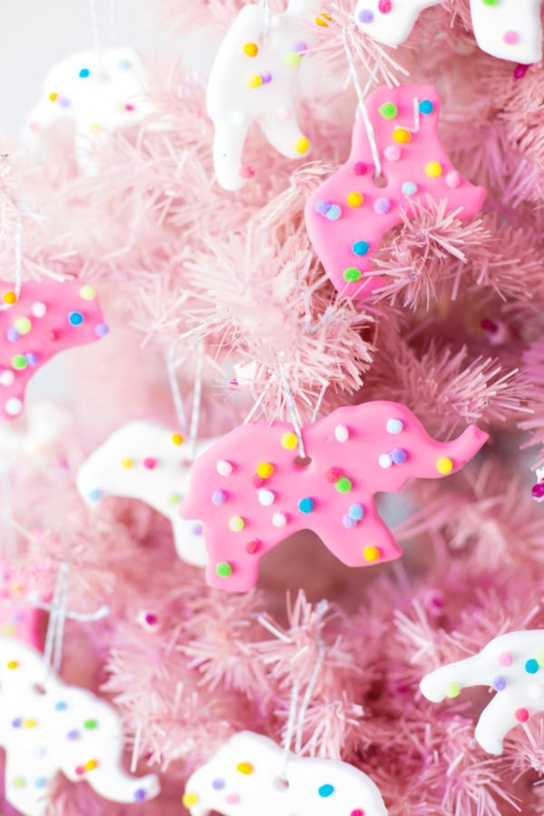 DIY Circus Animal Cookie Ornaments