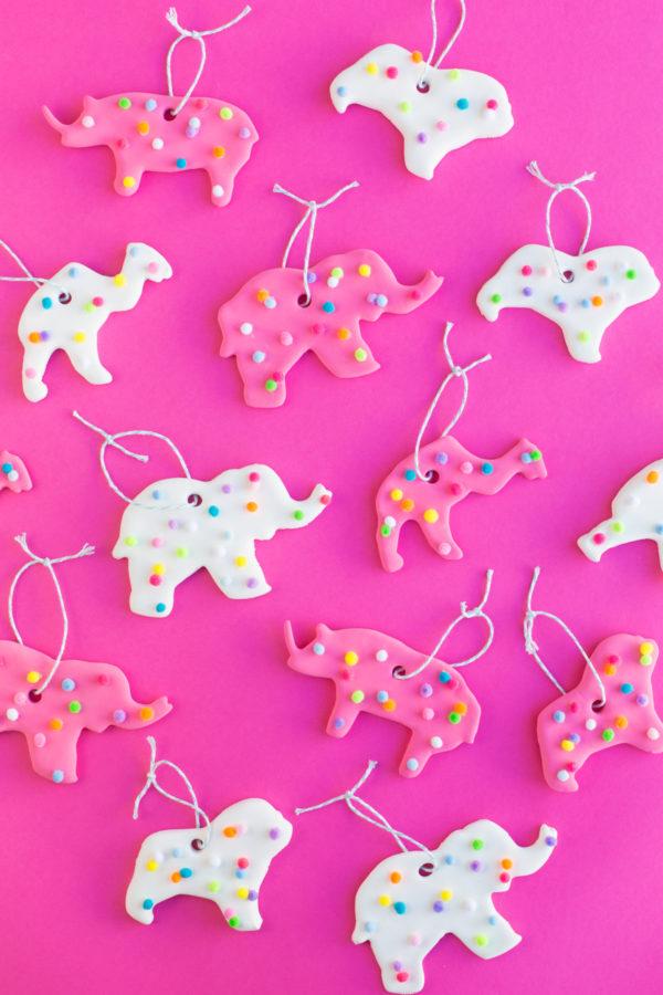 DIY Circus Animal Cookie Ornaments