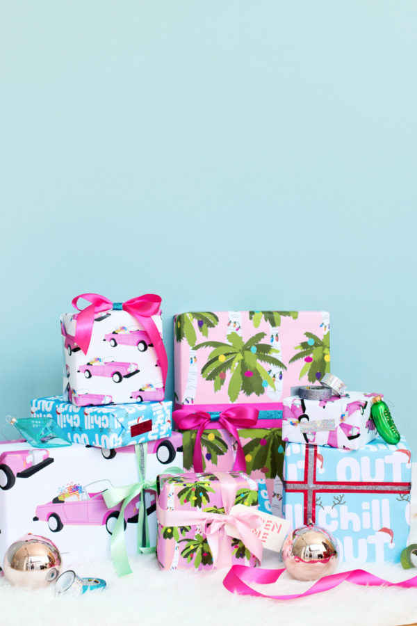 Free Printable Tropical Holiday Gift Wrap