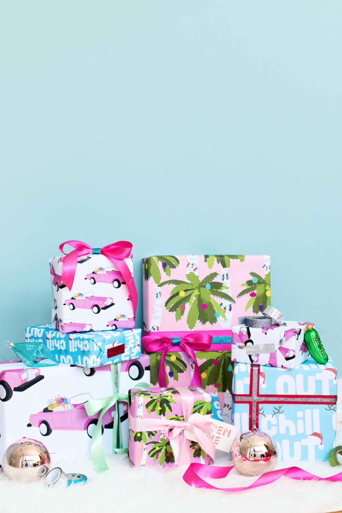 free printable tropical holiday gift wrap studio diy