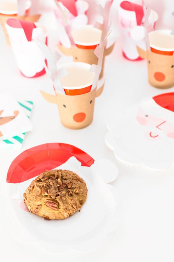 Cute Santa Plates