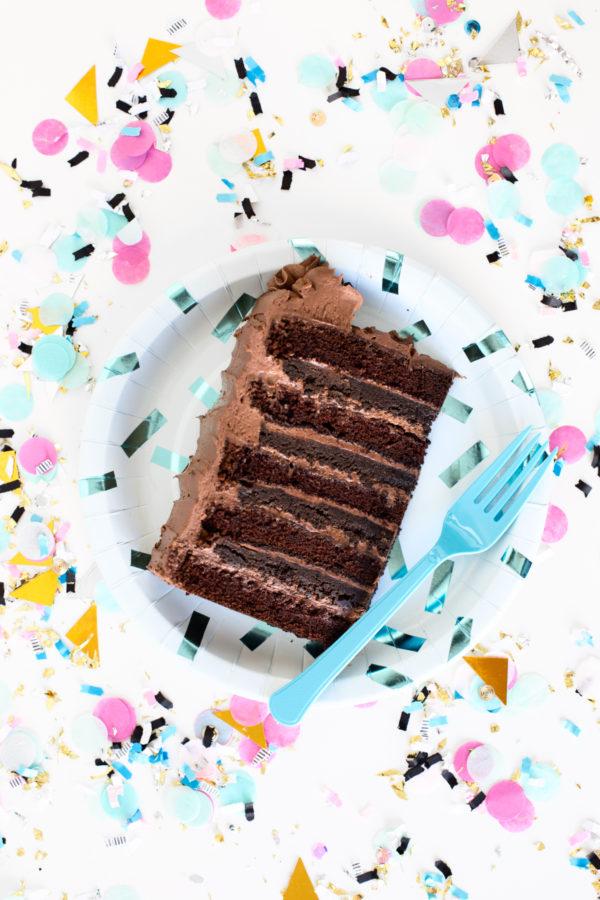 Triple Chocolate Crunch Cake