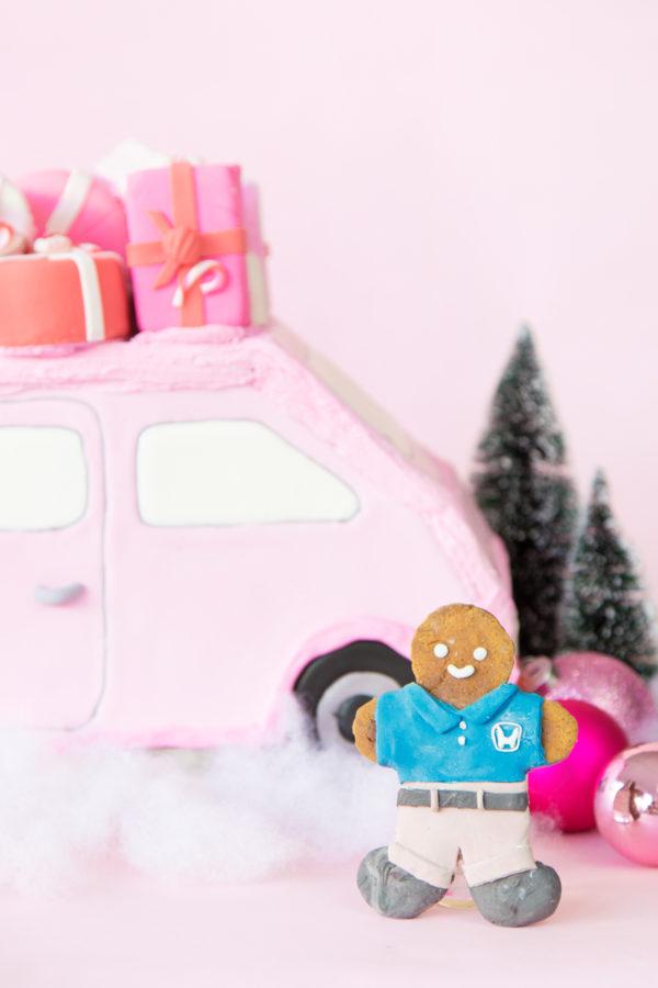 DIY Pink Gingerbread Car