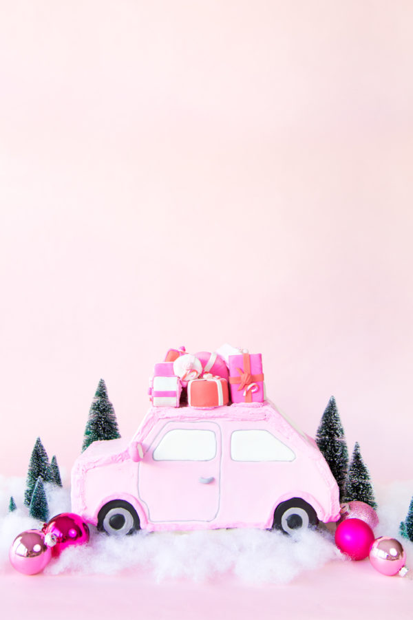 DIY Pink Gingerbread Car