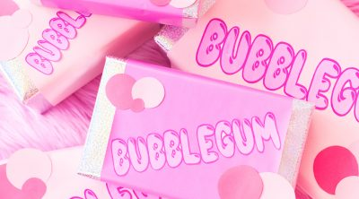 DIY Bubblegum Gift Wrap