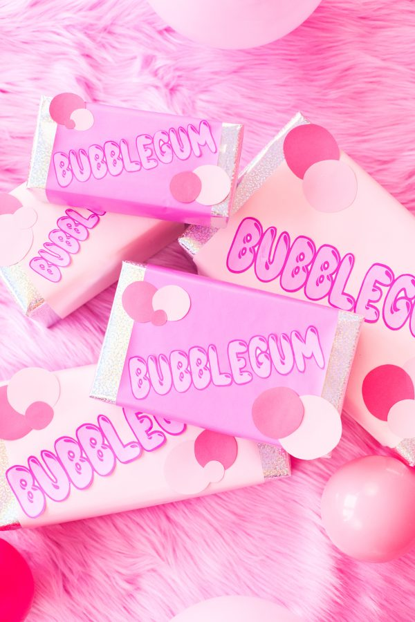 DIY Bubblegum Gift Wrap
