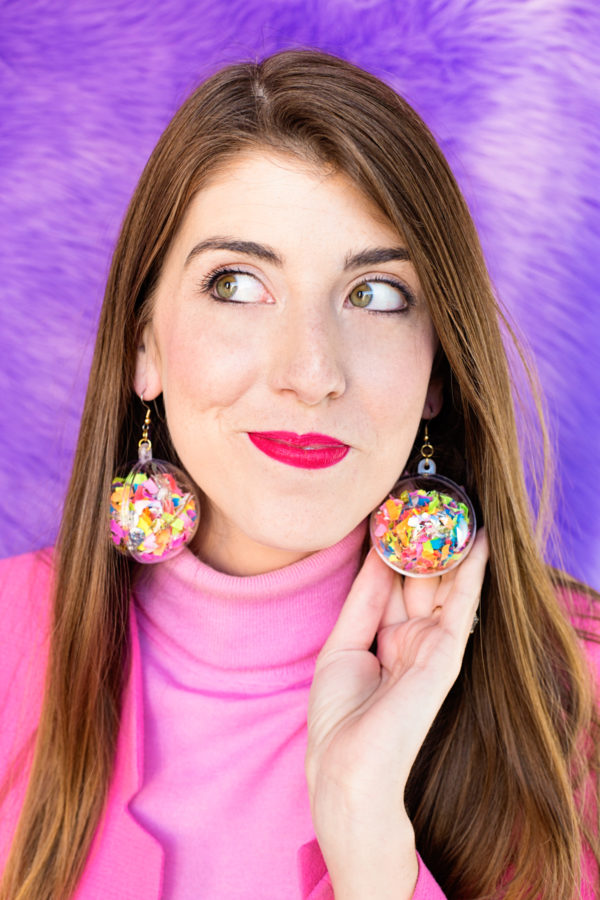 DIY Confetti Earrings