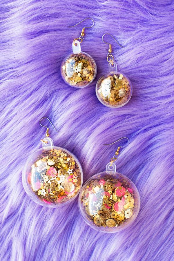 DIY Confetti Earrings