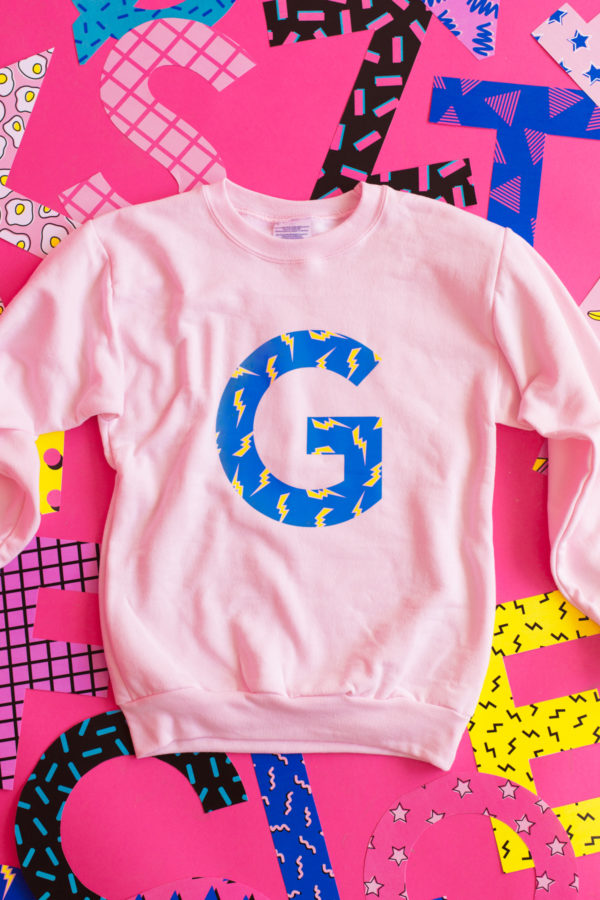 DIY Graphic Initial Sweatshirts